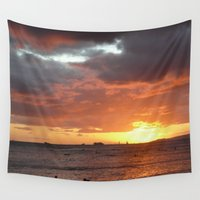 hawaiian Wall Tapestries featuring Hawaiian Vacation by Krista Dawn