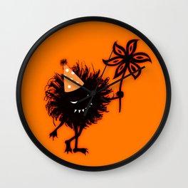 Evil Bug Halloween Party Wall Clock