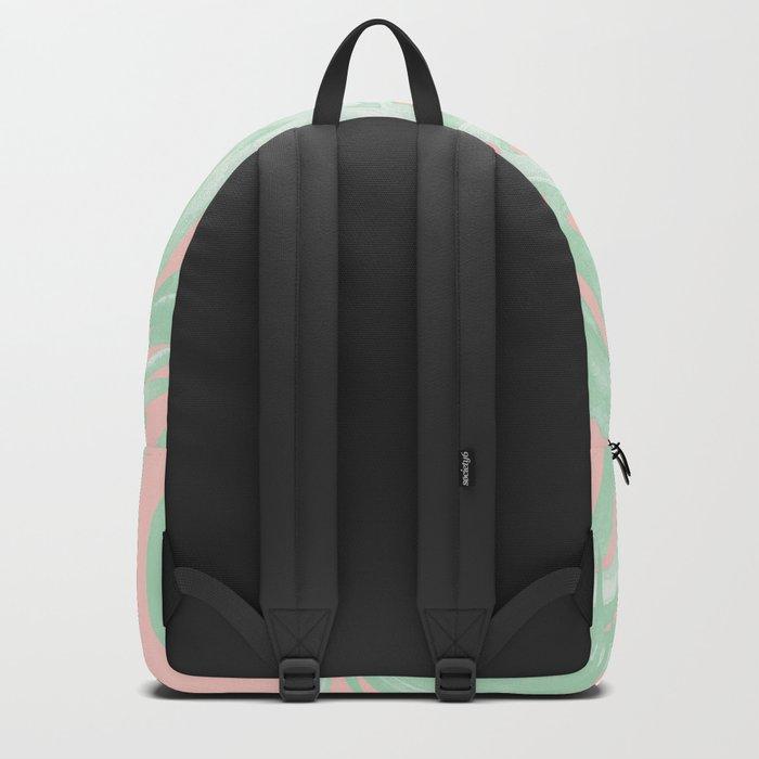 Island Love Seashell Pink + Light Green Backpack