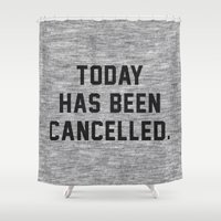 xbox Shower Curtains featuring Today has been Cancelled by Text Guy