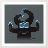 Monster In My Pants Art Print