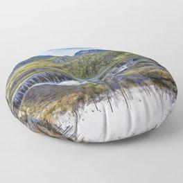 Snowdonia Tryfan Painting Floor Pillow