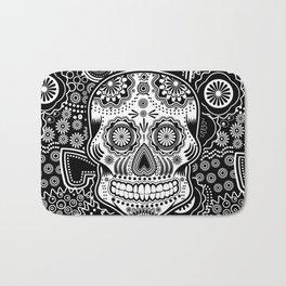 sugar skull Bath Mat