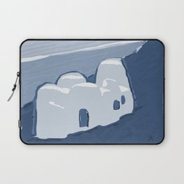 Labyrinth on the Shore, Sketch, Cyanotype Laptop Sleeve