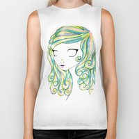 fairy Biker Tanks featuring Fairy by Caitlin Roberts