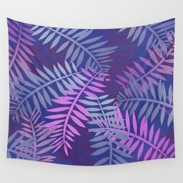 Violet pink palm leaves pattern Design #leaves Wall Tapestry
