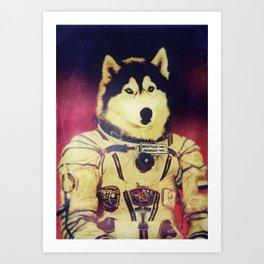 Cosmonaut K9 Art Print
