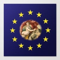 europe Canvas Prints featuring Europe by Turul