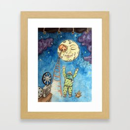 Scala per la Luna Framed Art Print