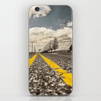 road iPhone & iPod Skins featuring Road by Color and Patterns