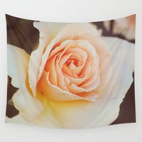 photograph Wall Tapestries featuring ROSE PHOTOGRAPH by Allyson Johnson