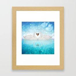 Heart of Swans #10 Framed Art Print