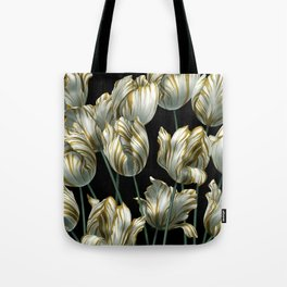 Winter Tulips in Gold. Tote Bag