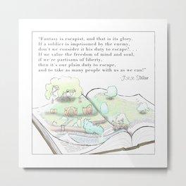 Tolkien Fantasy quote Metal Print