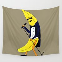 banana Wall Tapestries featuring Banana by Anna Shell