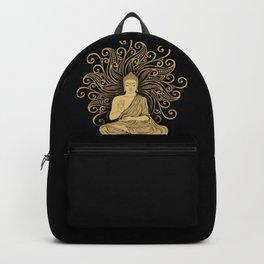 Mandala Golden Buddha Backpack