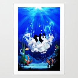 Ocean Panda Art Print