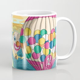 Hot Air Balloons Over Forest Park Coffee Mug