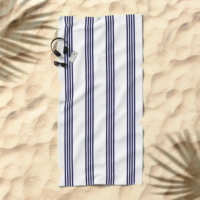 Blue- White- Stripe - Stripes - Marine - Maritime - Navy - Sea - Beach - Summer - Sailor Beach Towel