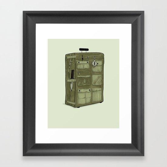 LOST Luggage / John Framed Art Print