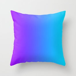 Purple To Cyan Gradients Throw Pillow