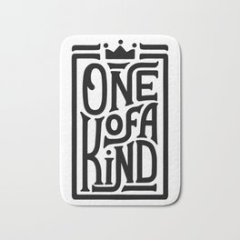 One of a Kind. Hand-lettered quote print Bath Mat