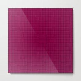 Raspberry Grid Metal Print