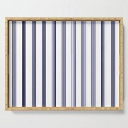 Blue- White- Stripe - Stripes - Marine - Maritime - Navy - Sea - Beach - Summer - Sailor Serving Tray