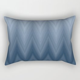 Blue Navy Chevron Ombre Rectangular Pillow