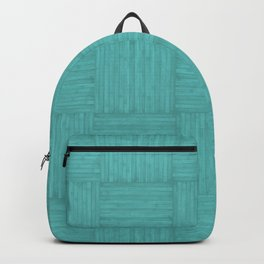 Turquoise Blue Faux Bois Wood Pattern Backpack