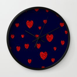 Le coeur au centre Wall Clock