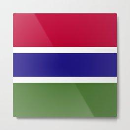 Gambia flag emblem Metal Print