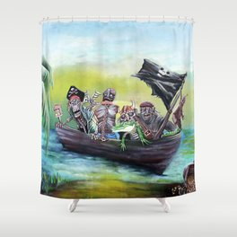 Pirate Booty Beach Shower Curtain