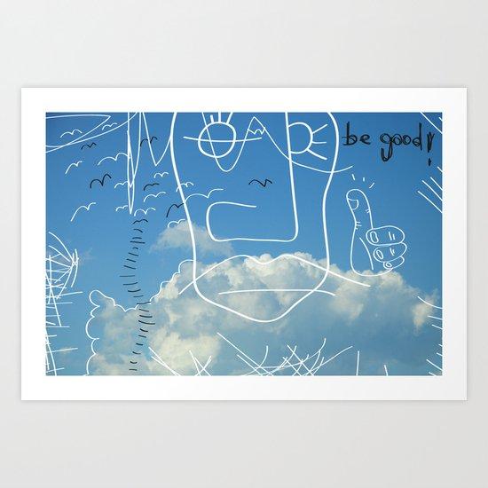 David En El Aire Art Print