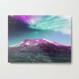 Space Mountain Vaporwaves Scene Over Washington Metal Print