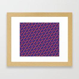 Geometrix / Deep Blue Framed Art Print