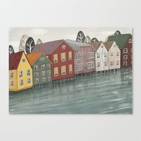 norway Canvas Prints featuring Norway. by Lu Green