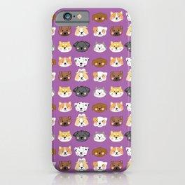 Nine Cute Dogs in Purple iPhone Case