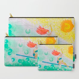 Skye & Sunshine- A Girl and Her Surfboard Carry-All Pouch