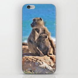 Mother and Baby Monkey iPhone Skin