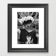 Nu goth fairy2 Framed Art Print