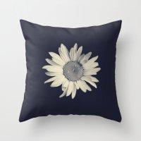 daisy Throw Pillows featuring Daisy  by Marianne LoMonaco