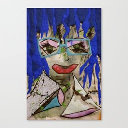 Earth Power Lady tetkaART Canvas Print
