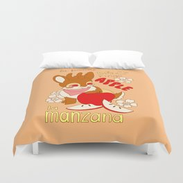 Jackalope and Apple Duvet Cover