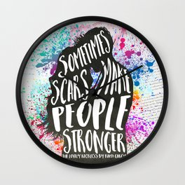 The Lovely Reckless - Scars Wall Clock