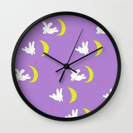 Usagi (Sailor Moon) Bedspread Bunny and Moon  Wall Clock