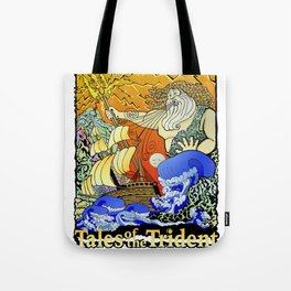 Tales of the Trident:Poseidon with Title Tote Bag