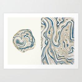 Polar Bear Lines Art Print