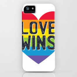 Love wins peace iPhone Case