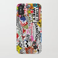 sticker iPhone & iPod Cases featuring Sticker Bomb by SOPHIA FREITAS